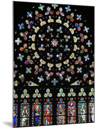 Rose Window in Notre-Dame-Des-Carmes Church, Pont-L'Abbe, Pont-L'Abbe, Finistere, France, Europe-Godong-Mounted Photographic Print