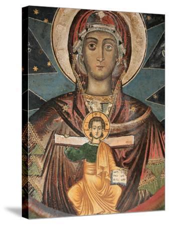 Fresco in Koutloumoussiou Monastery on Mount Athos, UNESCO World Heritage Site, Greece, Europe-Godong-Stretched Canvas Print