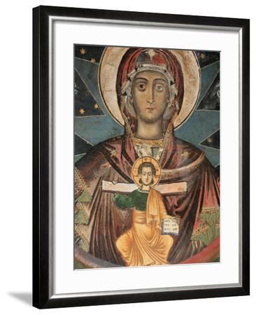 Fresco in Koutloumoussiou Monastery on Mount Athos, UNESCO World Heritage Site, Greece, Europe-Godong-Framed Photographic Print