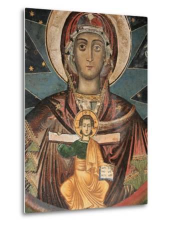 Fresco in Koutloumoussiou Monastery on Mount Athos, UNESCO World Heritage Site, Greece, Europe-Godong-Metal Print