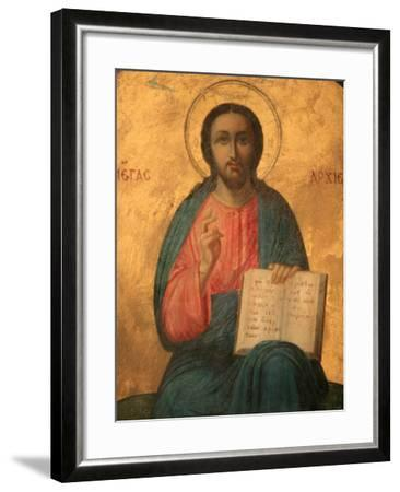 Greek Orthodox Icon Depicting Christ as High Priest, Thessaloniki, Macedonia, Greece, Europe-Godong-Framed Photographic Print