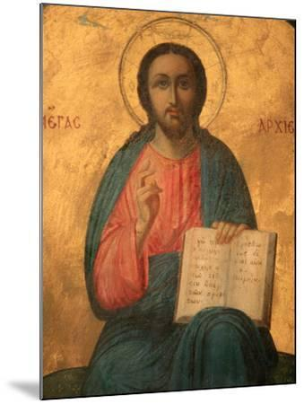 Greek Orthodox Icon Depicting Christ as High Priest, Thessaloniki, Macedonia, Greece, Europe-Godong-Mounted Photographic Print
