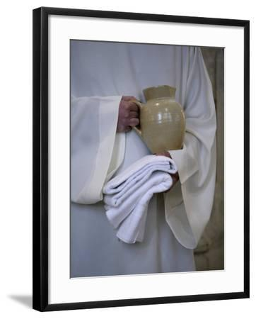 Mass in Saint Gervais Catholic Church Run by a Monastic Community, Paris, France, Europe-Godong-Framed Photographic Print