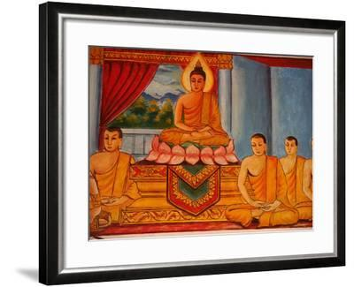 Scene from the Life of the Buddha, Vientiane, Laos, Indochina, Southeast Asia, Asia-Godong-Framed Photographic Print