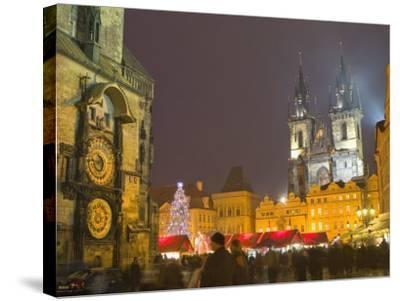 Old Town Hall, Astronomical Clock, Prague, Czech Republic-Marco Cristofori-Stretched Canvas Print