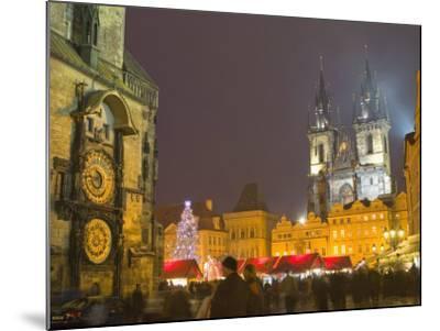 Old Town Hall, Astronomical Clock, Prague, Czech Republic-Marco Cristofori-Mounted Photographic Print