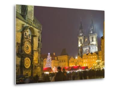 Old Town Hall, Astronomical Clock, Prague, Czech Republic-Marco Cristofori-Metal Print