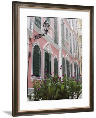 Portuguese Colonial Architecture, Macau, China, Asia-Ian Trower-Framed Photographic Print