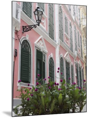 Portuguese Colonial Architecture, Macau, China, Asia-Ian Trower-Mounted Photographic Print