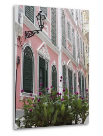 Portuguese Colonial Architecture, Macau, China, Asia-Ian Trower-Metal Print
