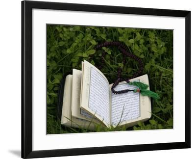 Koran and Prayer Beads, Chatillon-Sur-Chalaronne, Ain, France, Europe-Godong-Framed Photographic Print