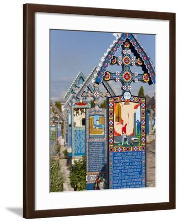 Merry Cemetery, Sapanta, Maramures, Romania, Europe-Marco Cristofori-Framed Photographic Print