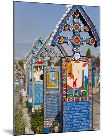 Merry Cemetery, Sapanta, Maramures, Romania, Europe-Marco Cristofori-Mounted Photographic Print