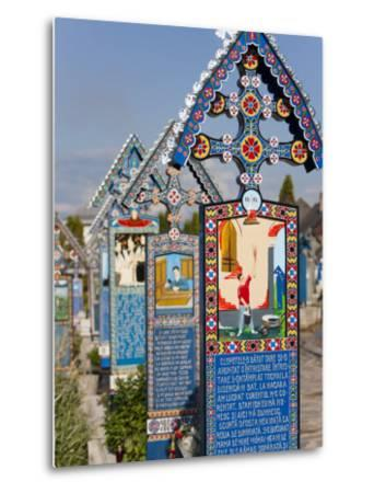 Merry Cemetery, Sapanta, Maramures, Romania, Europe-Marco Cristofori-Metal Print