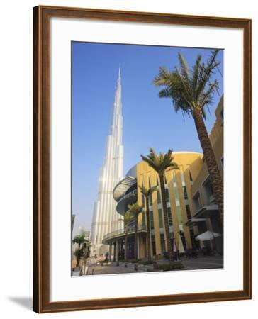 Burj Khalifa, the Tallest Tower in World at 818M, Downtown Burj Dubai, Dubai, United Arab Emirates-Amanda Hall-Framed Photographic Print