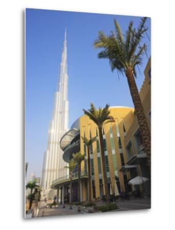 Burj Khalifa, the Tallest Tower in World at 818M, Downtown Burj Dubai, Dubai, United Arab Emirates-Amanda Hall-Metal Print