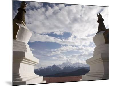 Buddhist Stupas on Way to Deqin, on the Tibetan Border, Shangri-La Region, Yunnan Province, China-Angelo Cavalli-Mounted Photographic Print