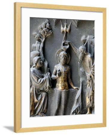 Jesus's Baptism, Duomo, Florence, Tuscany, Italy, Europe-Godong-Framed Photographic Print