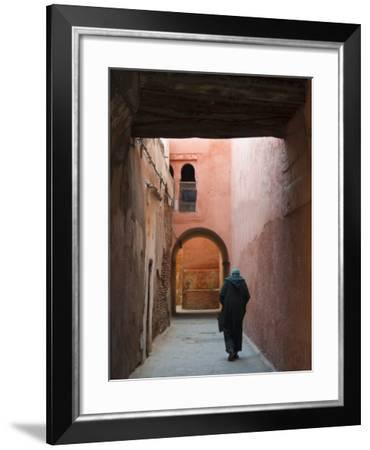Street in the Souk, Medina, Marrakech (Marrakesh), Morocco, North Africa, Africa-Nico Tondini-Framed Photographic Print