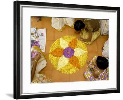 Onam Celebrations, Kerala, India-Balan Madhavan-Framed Photographic Print