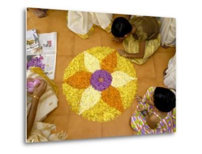 Onam Celebrations, Kerala, India-Balan Madhavan-Metal Print