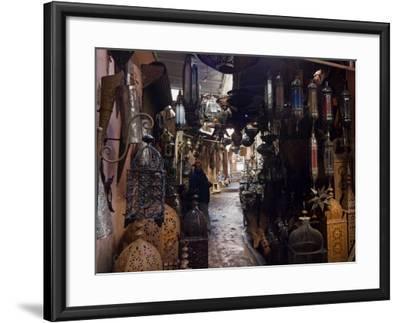 Souk, Marrakech (Marrakesh), Morocco, North Africa, Africa-Nico Tondini-Framed Photographic Print