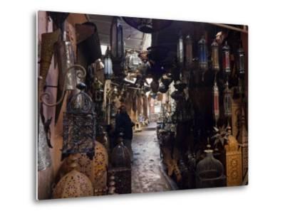 Souk, Marrakech (Marrakesh), Morocco, North Africa, Africa-Nico Tondini-Metal Print