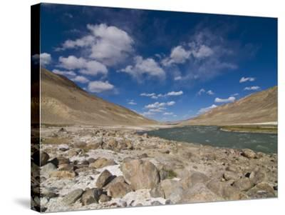 Pamir River, Tajikistan, Central Asia-Michael Runkel-Stretched Canvas Print