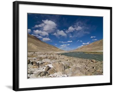 Pamir River, Tajikistan, Central Asia-Michael Runkel-Framed Photographic Print