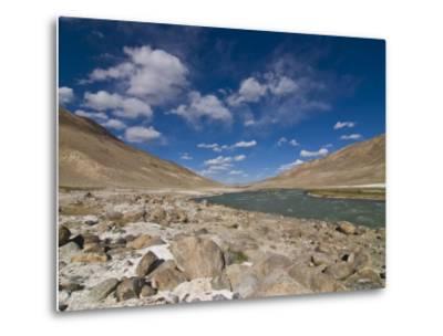 Pamir River, Tajikistan, Central Asia-Michael Runkel-Metal Print