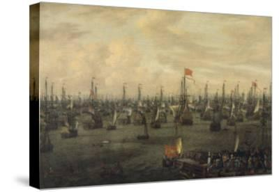 The Departure of William of Orange from Briel, 1688-Abraham Storck-Stretched Canvas Print