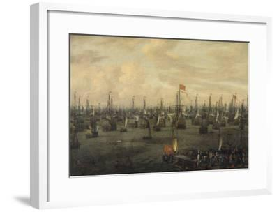 The Departure of William of Orange from Briel, 1688-Abraham Storck-Framed Giclee Print