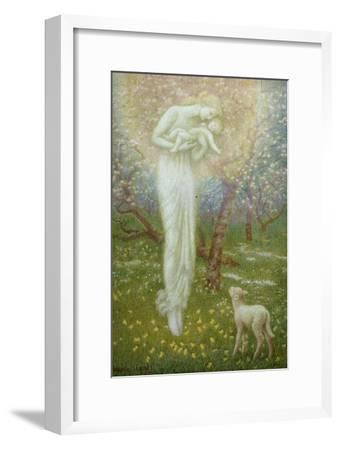 Little Lamb, who made thee?-Arthur Hughes-Framed Giclee Print