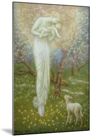 Little Lamb, who made thee?-Arthur Hughes-Mounted Giclee Print