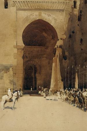 The Gate of Justice, 1890-Arthur Melville-Stretched Canvas Print