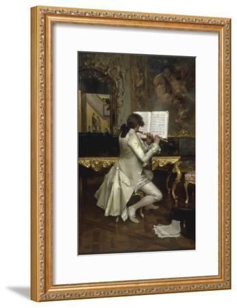 The Flute Player-Charles Bargue-Framed Giclee Print