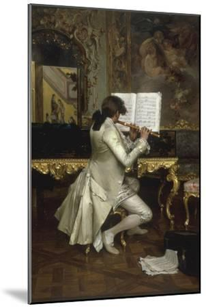 The Flute Player-Charles Bargue-Mounted Giclee Print