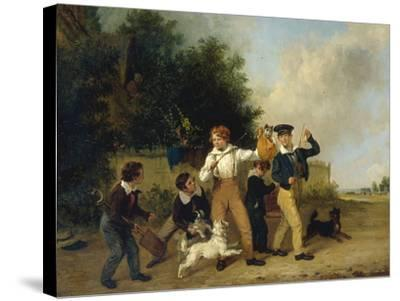 Boys with their Pets, 1841-Edmund Bristow-Stretched Canvas Print