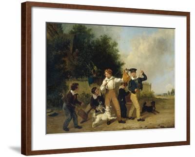 Boys with their Pets, 1841-Edmund Bristow-Framed Giclee Print