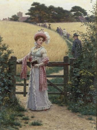 Sunday Morning, 1891-Edmund Blair Leighton-Framed Giclee Print