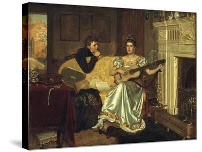 Say, What shall be the Burden of my Song?, 1881-Edmund Blair Leighton-Stretched Canvas Print