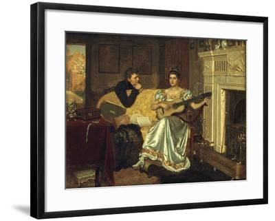 Say, What shall be the Burden of my Song?, 1881-Edmund Blair Leighton-Framed Giclee Print