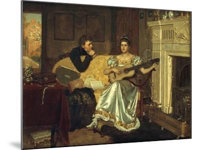 Say, What shall be the Burden of my Song?, 1881-Edmund Blair Leighton-Mounted Giclee Print