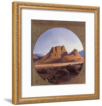 Mount Sinai, 1853-Edward Lear-Framed Giclee Print