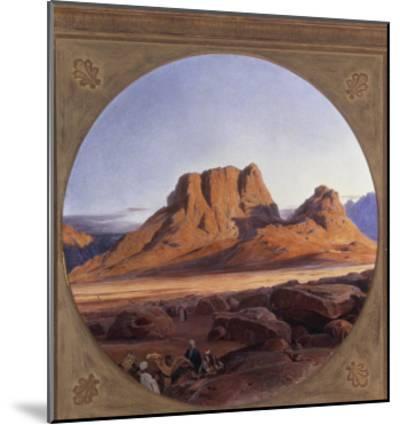 Mount Sinai, 1853-Edward Lear-Mounted Giclee Print