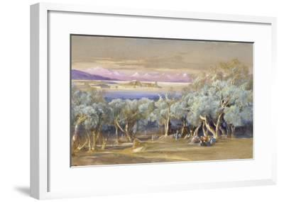 Corfu from Vonista, 1856-Edward Lear-Framed Giclee Print