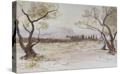 Near Kanea, Crete, 1864-Edward Lear-Stretched Canvas Print
