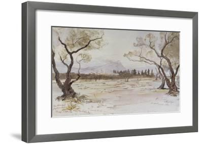 Near Kanea, Crete, 1864-Edward Lear-Framed Giclee Print
