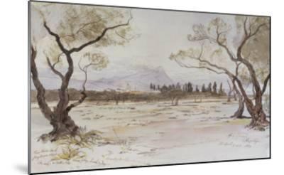 Near Kanea, Crete, 1864-Edward Lear-Mounted Giclee Print