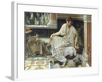 Chloe, Dulces Docta Modos et Citharae Ciens, 1893-Edward John Poynter-Framed Giclee Print